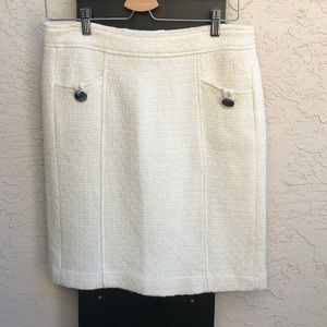 Banana Republic Lined Wool Mini Skirt with Puckets